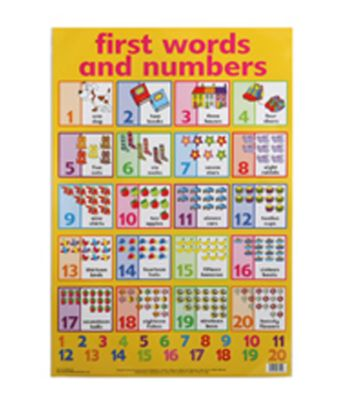 First Words and Numbers Wallchart