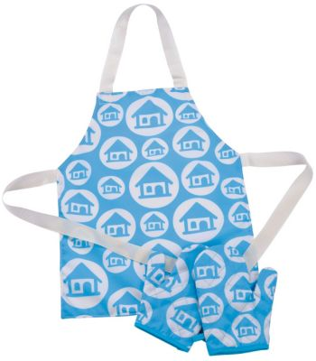 Apron and Oven Gloves - Turquoise