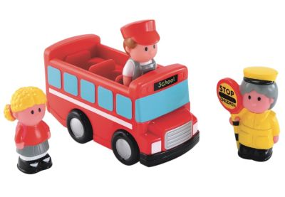 New ELC Boys and Girls Happyland School Bus Toy From 18 months
