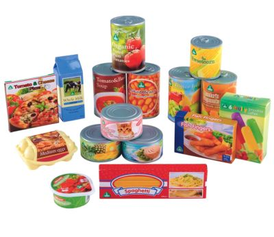 Play Food Tins and Groceries