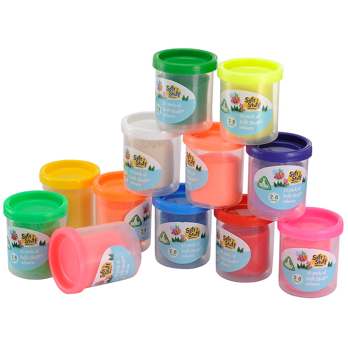 New ELC Boys and Girls Soft Stuff Pack of 12 Colours Toy From 18 months