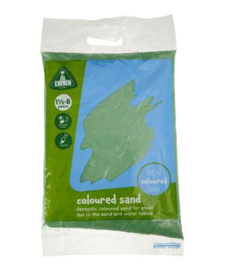 Green Coloured Play Sand - 5kg Bag