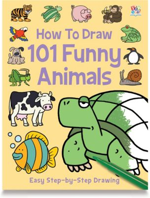 How To Draw 101 Funny Baby Animals Book