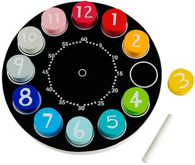 ELC Wooden Teaching Clock
