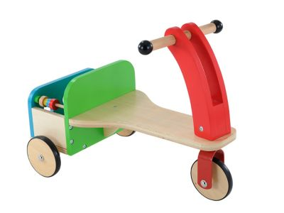 Wooden Trike and Trailer Toy From 12 months