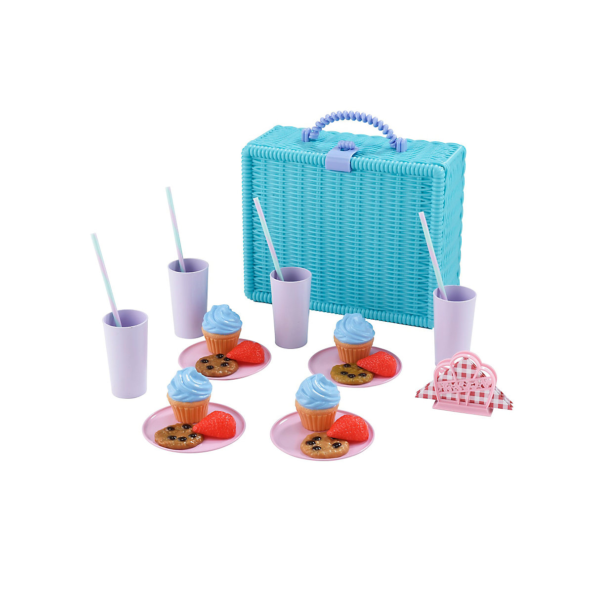 New ELC Boys and Girls Picnic Hamper for 4 Toy From 3 years