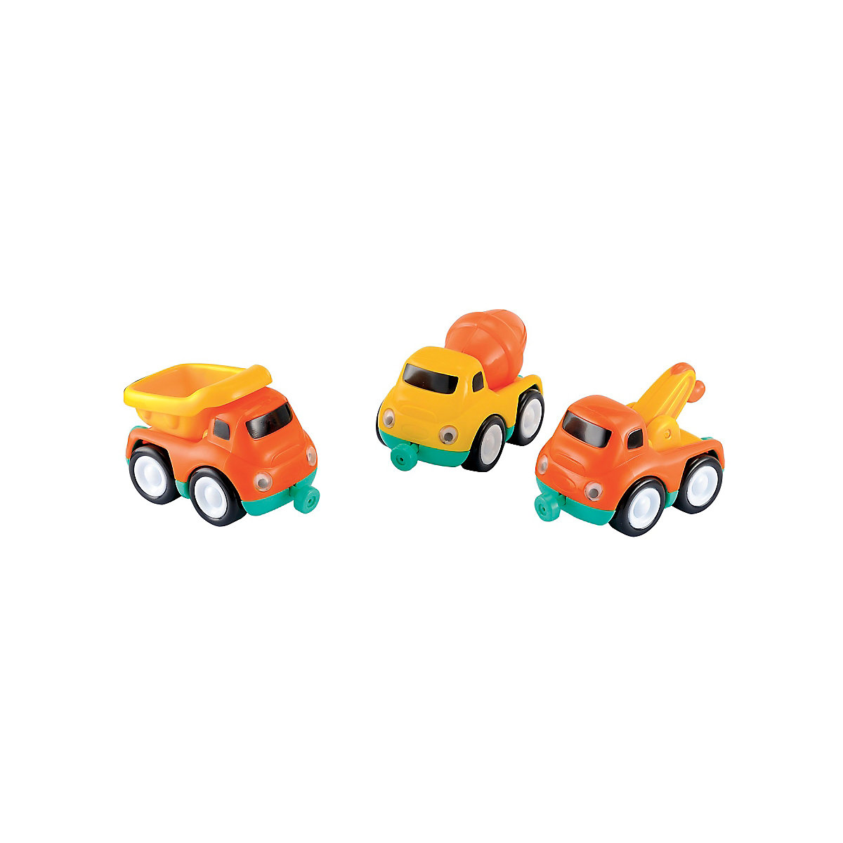 New ELC Boys & Girls Whizz World Construction Vehicle Magnetic Trio Set. 12 mth+