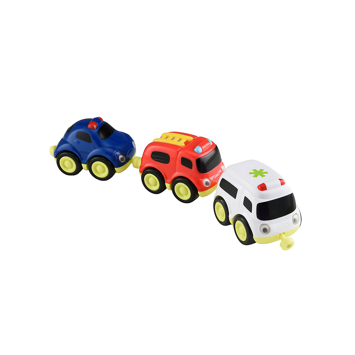 New ELC Boys/Girls Whizz World Emergency Vehicles Trio Set Toy From 12 months