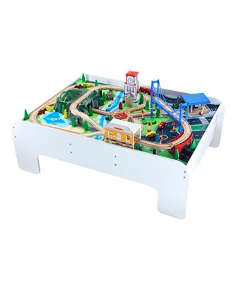 Big City Wooden Rail Train Table Toy From 3 years