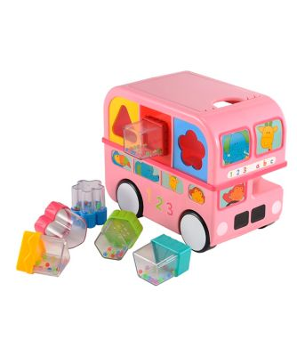 Shape Sorting Bus - Pink Toy From 6 months