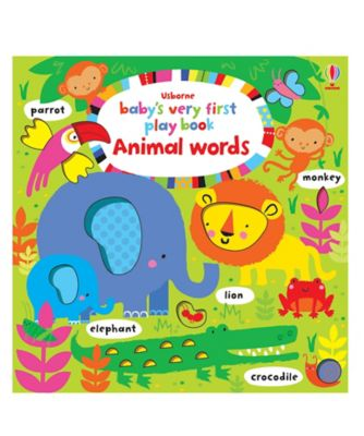 Babys Very First Play Book Animal Words Toy From Birth