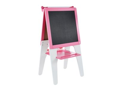 Double Sided Wooden Easel - Pink