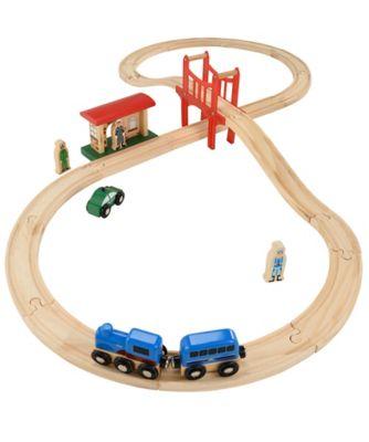 big city wooden figure of 8 wooden rail set