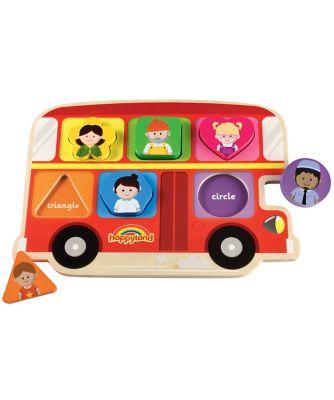 happyland wooden bus puzzle