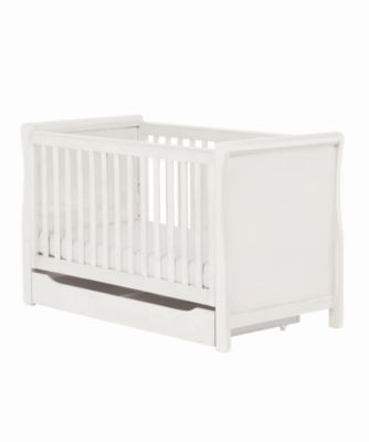mothercare darlington sleigh cot bed  white