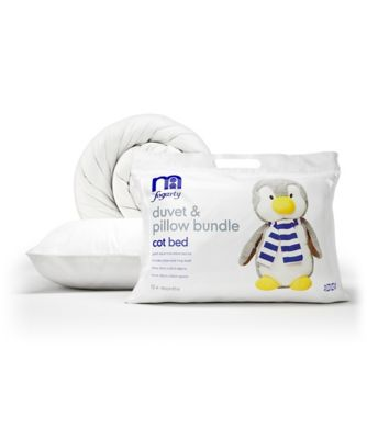mothercare by fogarty duvet and pillow bundle cot bed