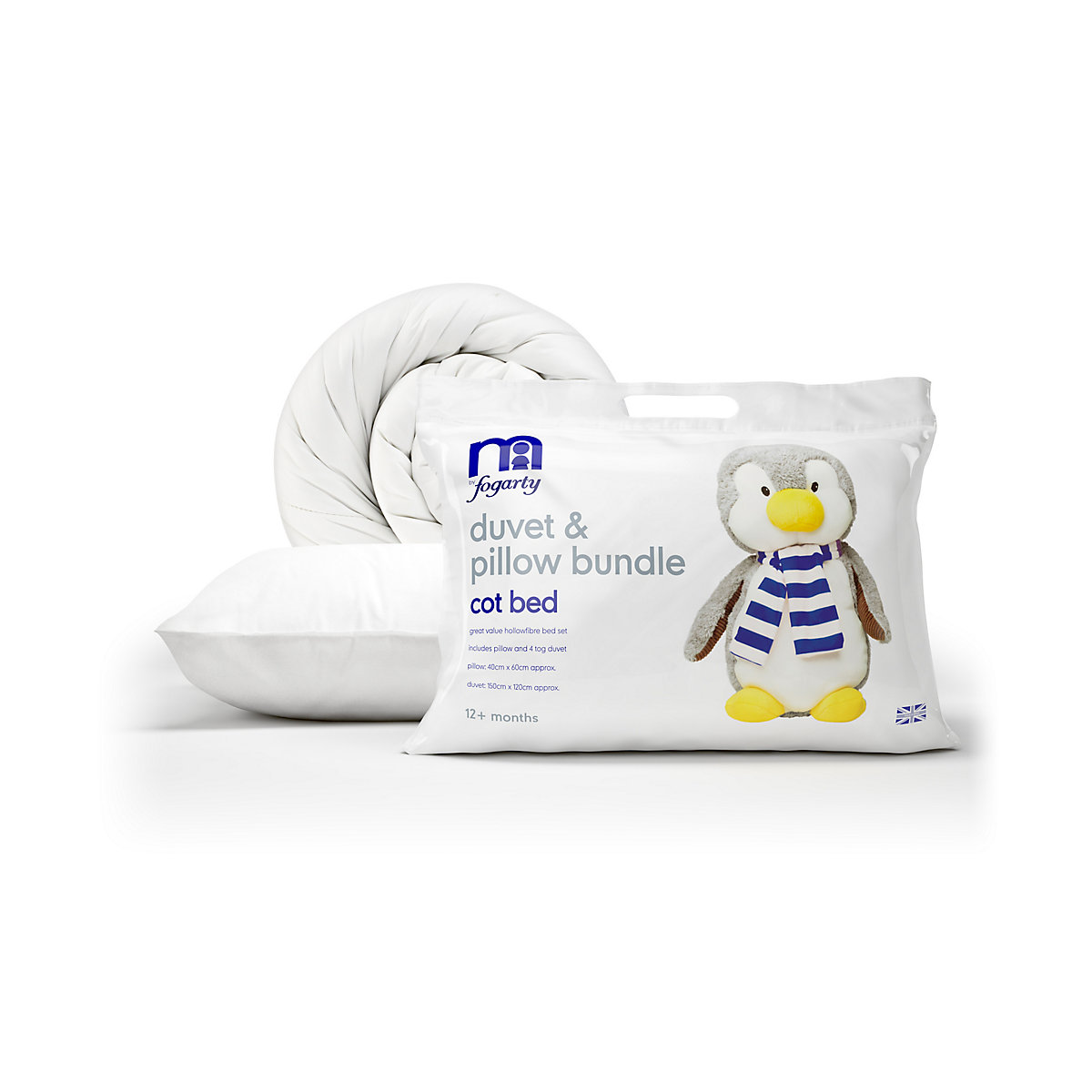 Mothercare B Baby Bedding Fogarty Duvet and Pillow Bundle-