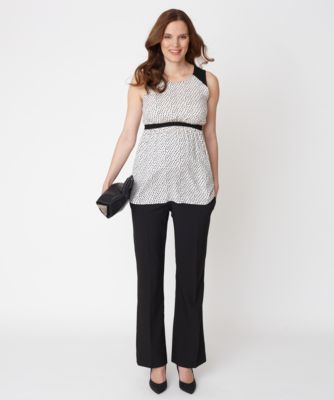 Maternity Over The Bump Bistretch Longer Leg Trousers