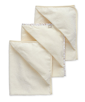 Mothercare Cuddle N Dry Hooded Towels - Cream - 3 Pack