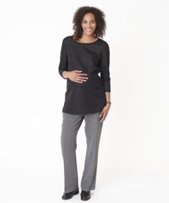 Maternity Over The Bump Textured Trousers
