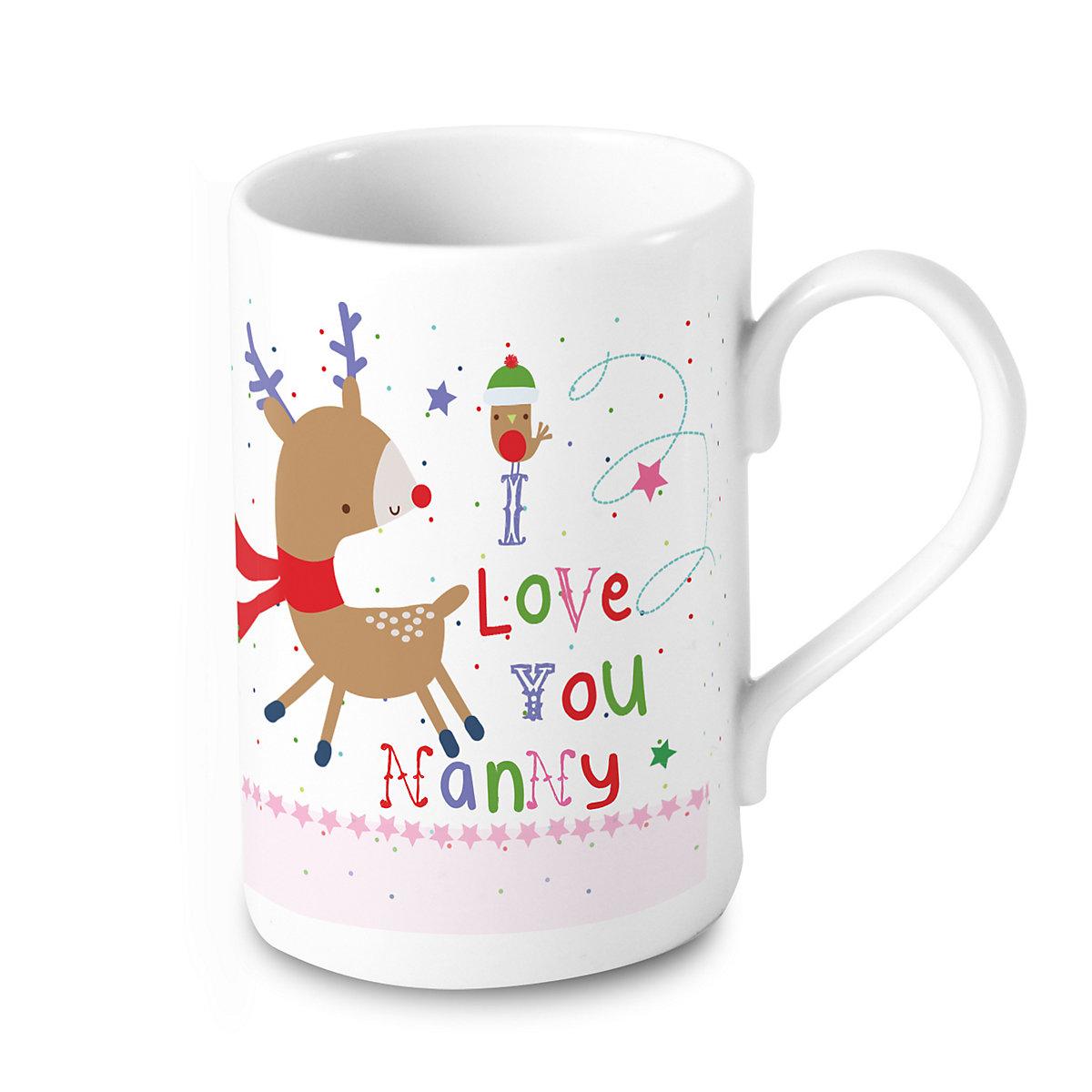 Personalised Nanny Reindeer Mug