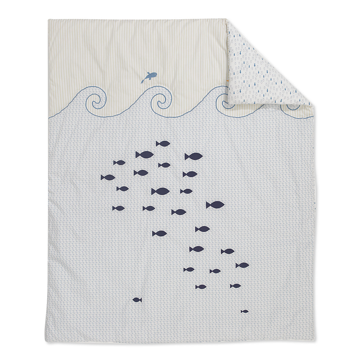Mothercare Whale Bay Cot Bed Quilt