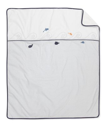 mothercare whale bay cot/cot bed coverlet