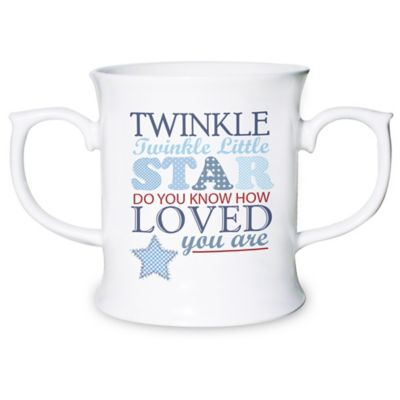 Personalised Blue Twinkle Twinkle Loving Mug
