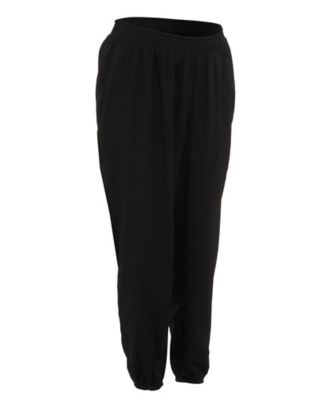 Black Cuffed Maternity Trousers