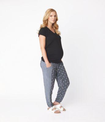 Tile Print Maternity Trousers