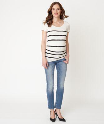 Mamalicious Lace Stripes  Maternity Top