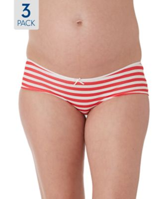 Maternity Stripe and Plain Briefs- 3 Pack