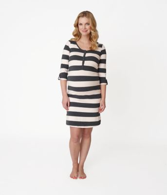 Striped Maternity Nightdress