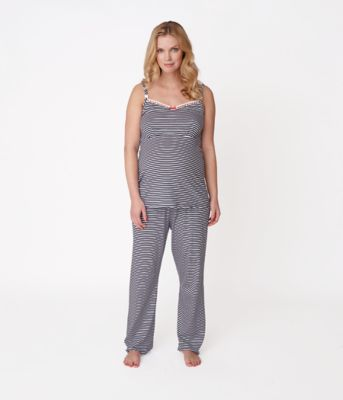 Maternity Ribbon Pyjamas Set