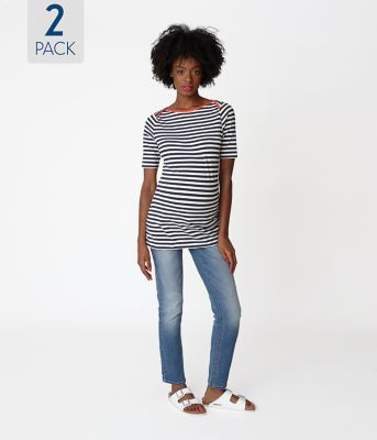 Maternity Stripe T-Shirt - 2 Pack