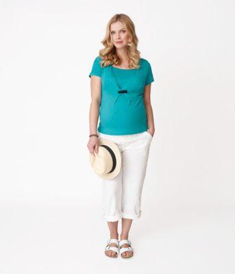 Linen Maternity Trousers - White