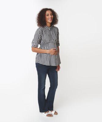 Maternity Gingham Shirt