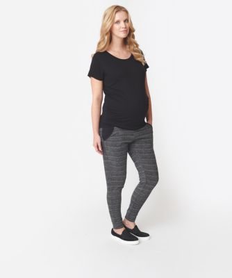 Maternity Grey Space Dye Joggers