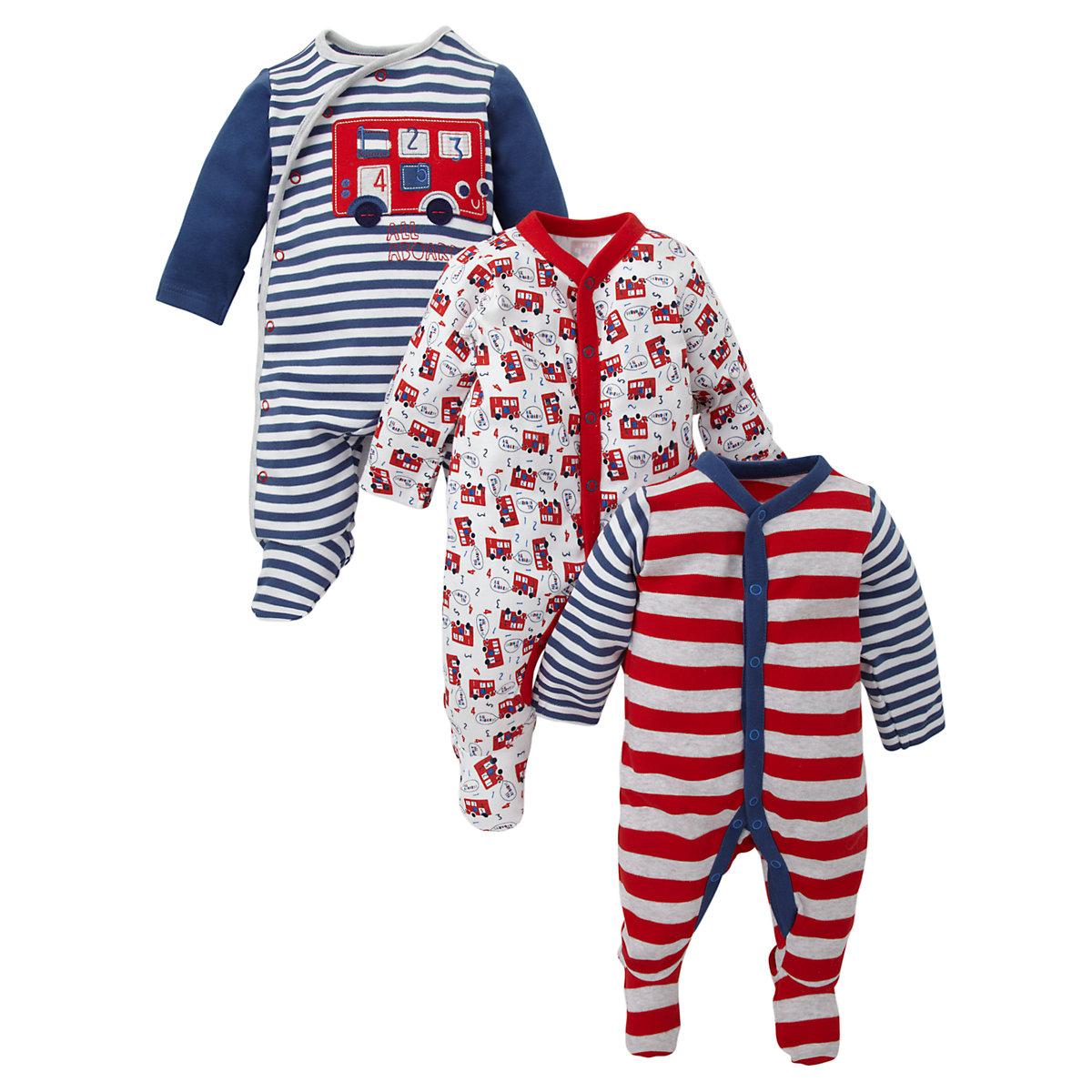 B Newborns Bus Sleepsuits - 3 Pack Size 2-3 years