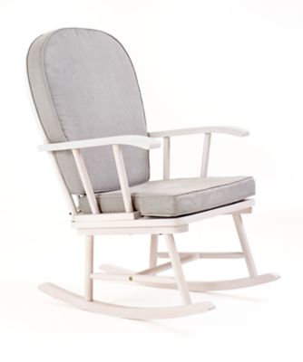 mothercare white rocking chair with grey cushion - Nursing Chair