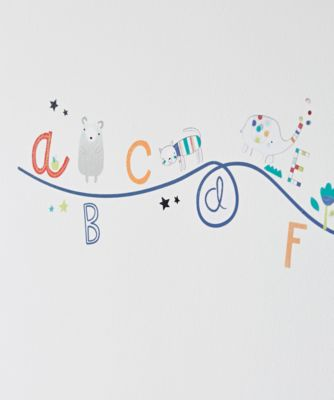 Alphabet Brights Wall Stickers.
