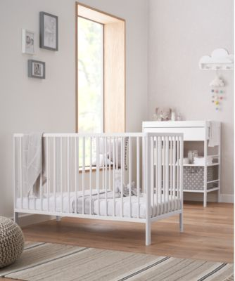 pink nursery furniture. mothercare balham cot white pink nursery furniture y