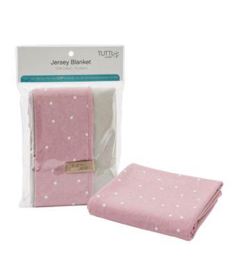 tutti bambini cozee jersey blanket  dusty pink