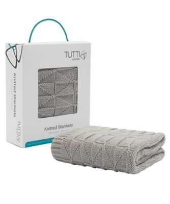 tutti bambini cozee® knitted blanket  putty