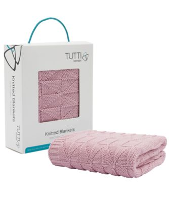 tutti bambini cozee® knitted blanket  dusty pink