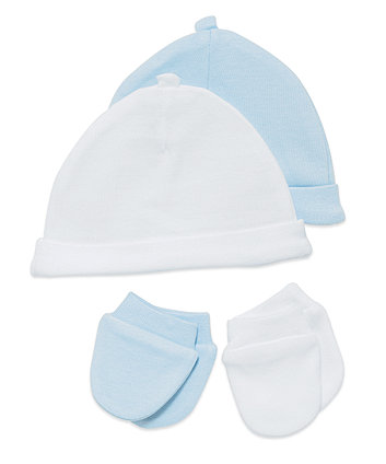 Boys Premature Hat And Mitt Set