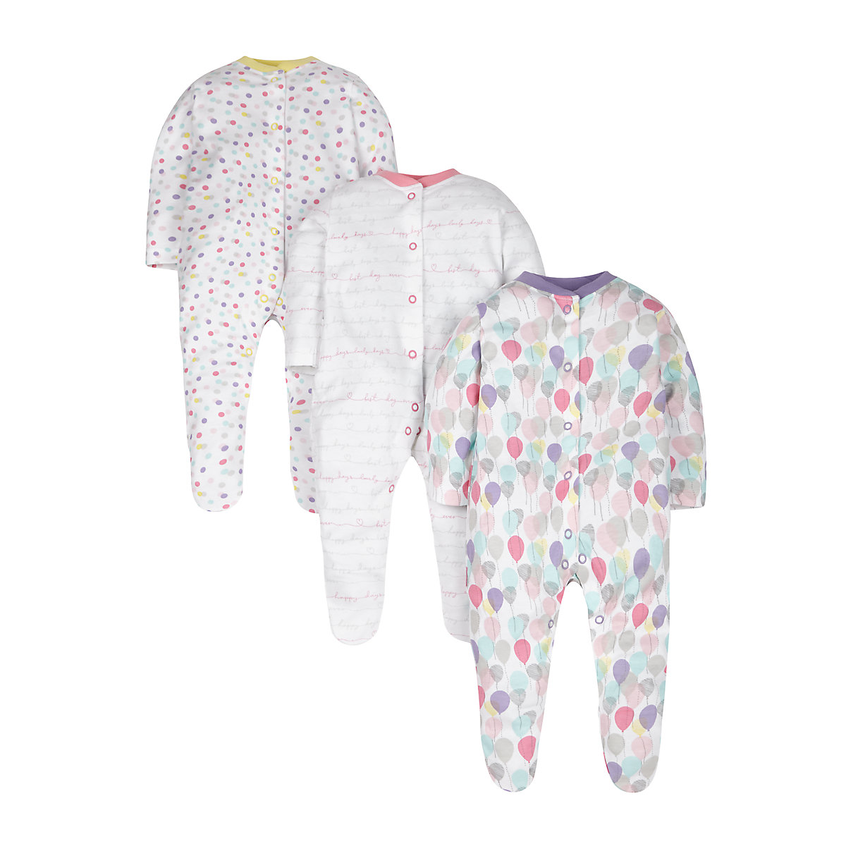 Balloons Sleepsuits - 3 Pack