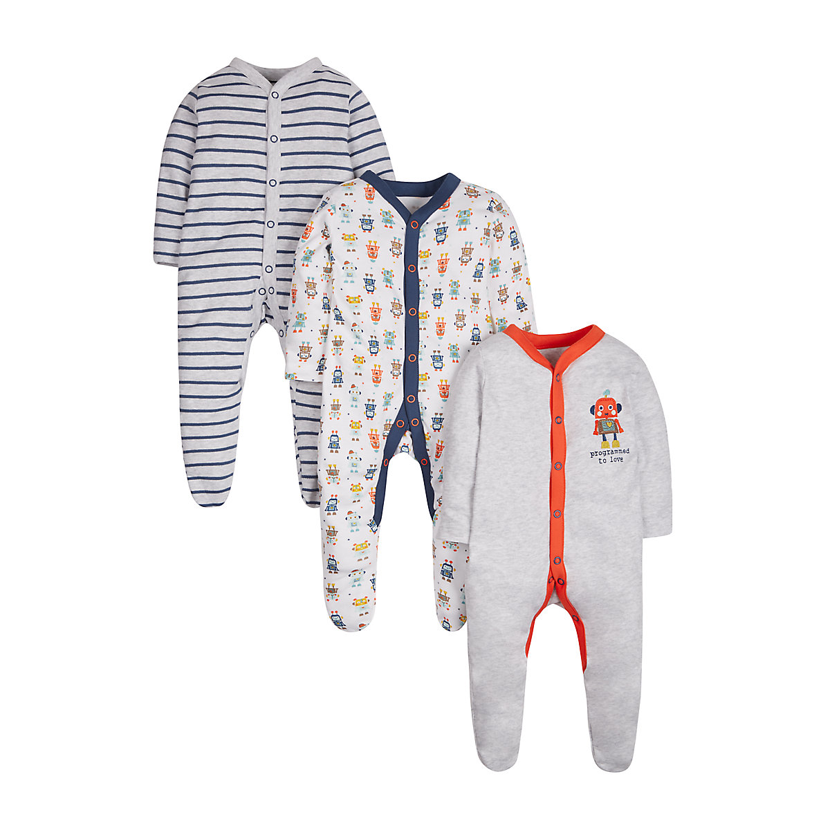 Robot Sleepsuits -3 Pack