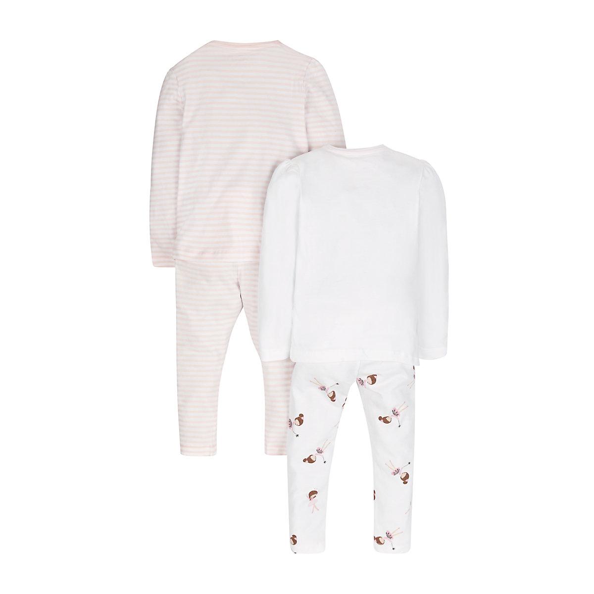B-Toddler-Girl-039-s-Ballerina-Pyjamas-2-Pack