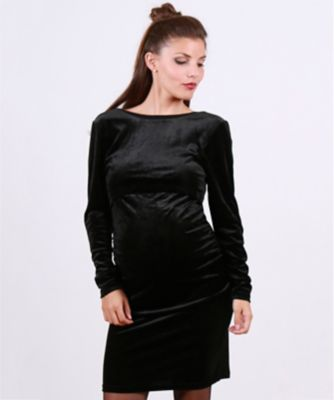 Oh Ma! Velvet Nursing Dress